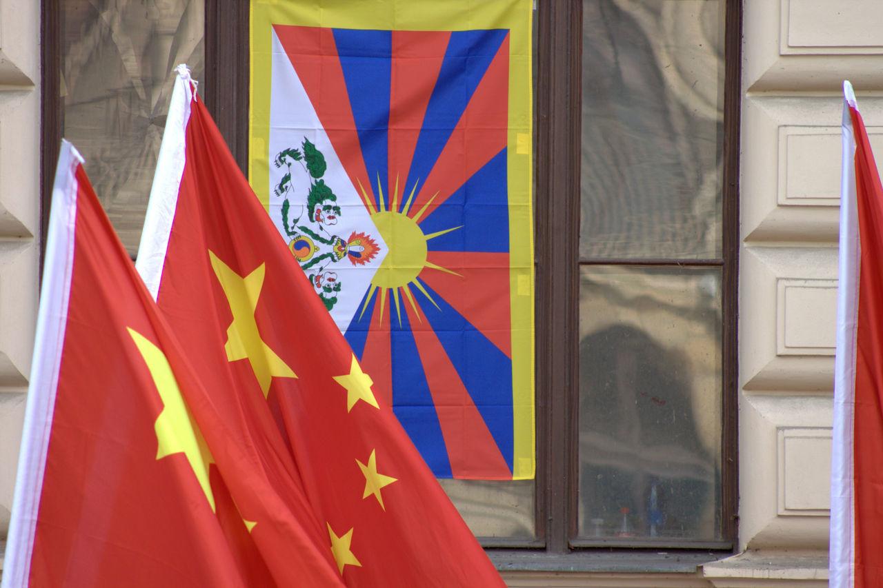 Chinese Flag Czech Flag Czech Republic Flag Friendship Prague Red Prague Czech Republic