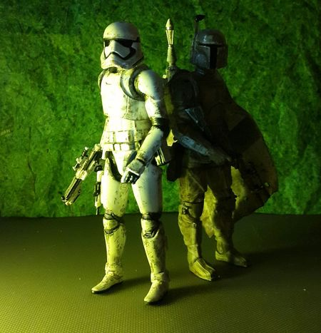 THE DYNAMIC DUO... Starwars Toyphotography Actionfigures Toys Hasbro Toygallery Toygroup_alliance Toyphotogallery Toyphotographer HasbroStarWars Stormtrooper Firstorderstormtrooper Bobafett