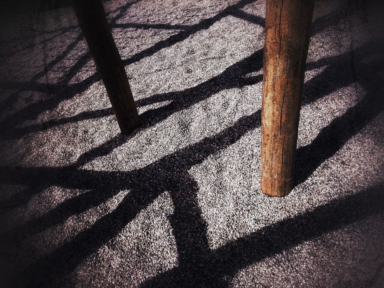 Shadow Sunlight Focus On Shadow High Angle View Day No People Low Section Close-up Climbing Climbing Frame Monkey Bars Beams Beam Wood Architecture Playgrounds Playground Equipment Playground Wood - Material Outdoors