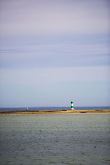 Lighthouse in Olpenitz, Germany Baltic Beauty In Nature Blue Calm Cloud Clouds Day Germany Horizon Over Water Idyllic Kappeln Lighthouse Nature Ocean Olpenitz Outdoors Rippled Scenics Sea Sea And Sky Sky Skyporn Tranquility Water Water_collection