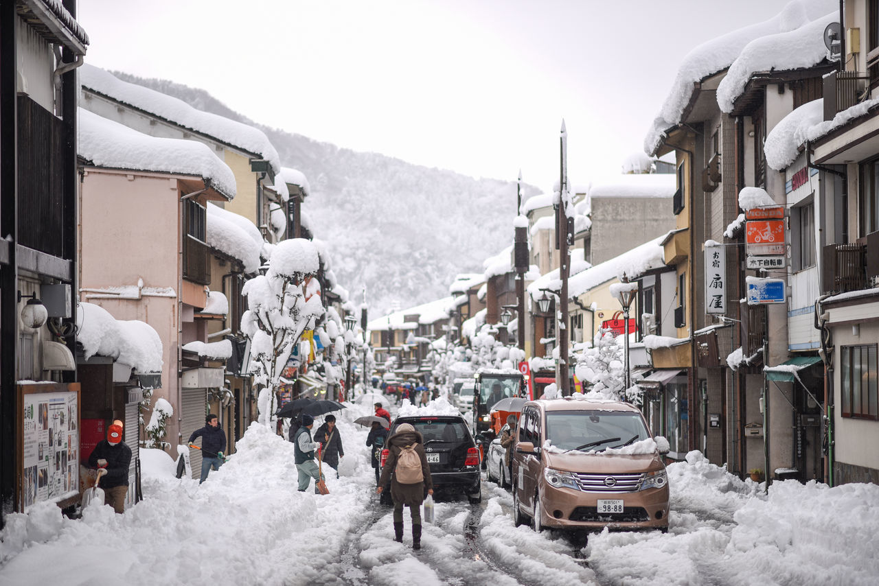 Adult Building Exterior City Cold Temperature Day House Kinosaki KinosakiOnsen Mountain Nature Only Men Outdoors People Residential Building Ski Holiday Ski Lift Sky Snow Snowcapped Mountain Snowing Winter Winter Sport