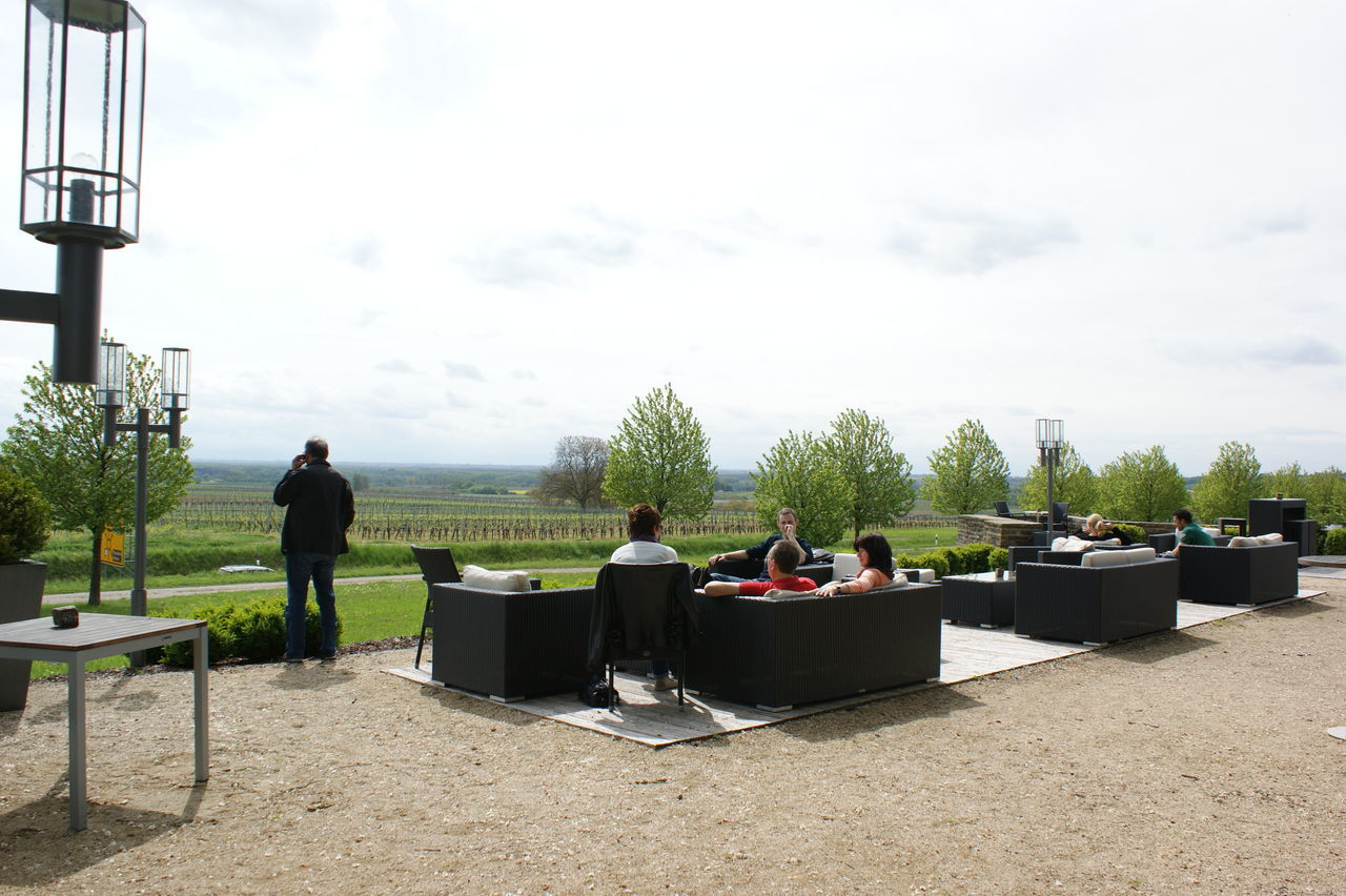 French Winery Lifestyles Outdoor Cafe Outdoor Lounge Outdoors Solitude Tranquil Scene Tranquility