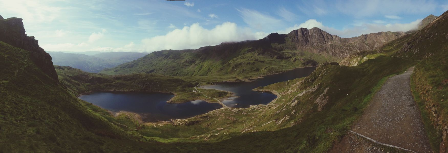 Journey To The Top Panaromic View Scenic Landscapes Hikingadventures Lake View Snowden Snowden Mountain Wales UK The Road Ahead