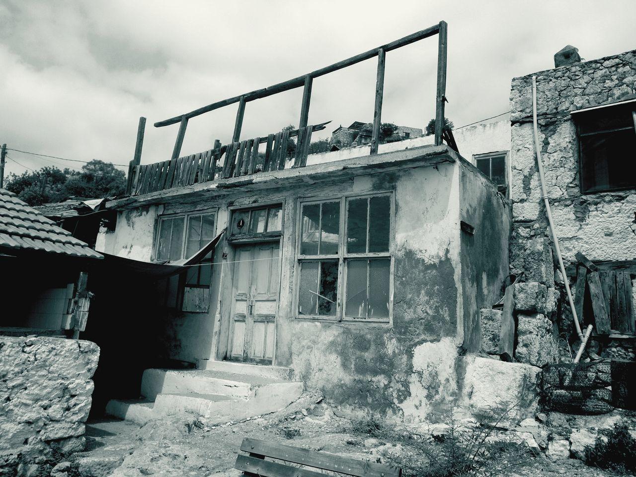Turkey Village Fishermanvillage House Old House Black & White Monochrome Trip