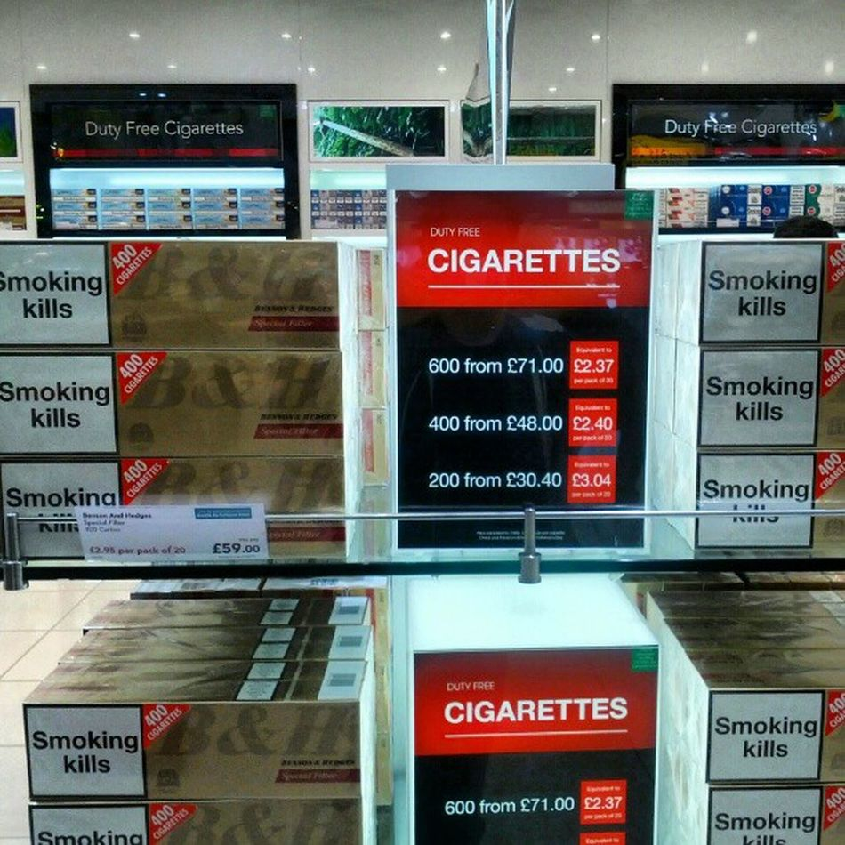 Smoking kills London Heathrow Airport