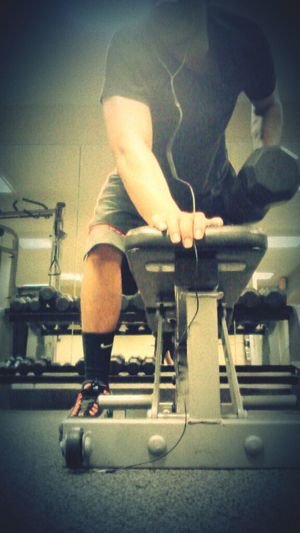Hard Workout In The Gym Today 40 Pound Dumbells Oh Yeah