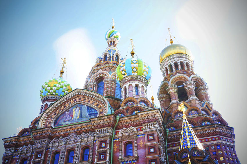 2014 Architecture Baroque Building Exterior Built Structure Church Church On Spilt Blood Clear Sky Cultures Day Dome Low Angle View Religion Russia Russian Orthodox Church Saint Petersburg Sky Храм Спаса на Крови サンクトペテルブルク ロシア 教会 血の上の救世主教会