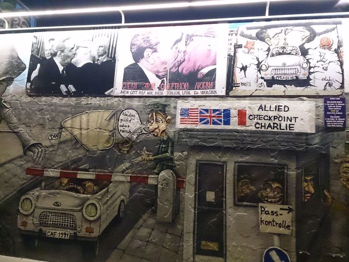 Un trozo del Muro De Berlín