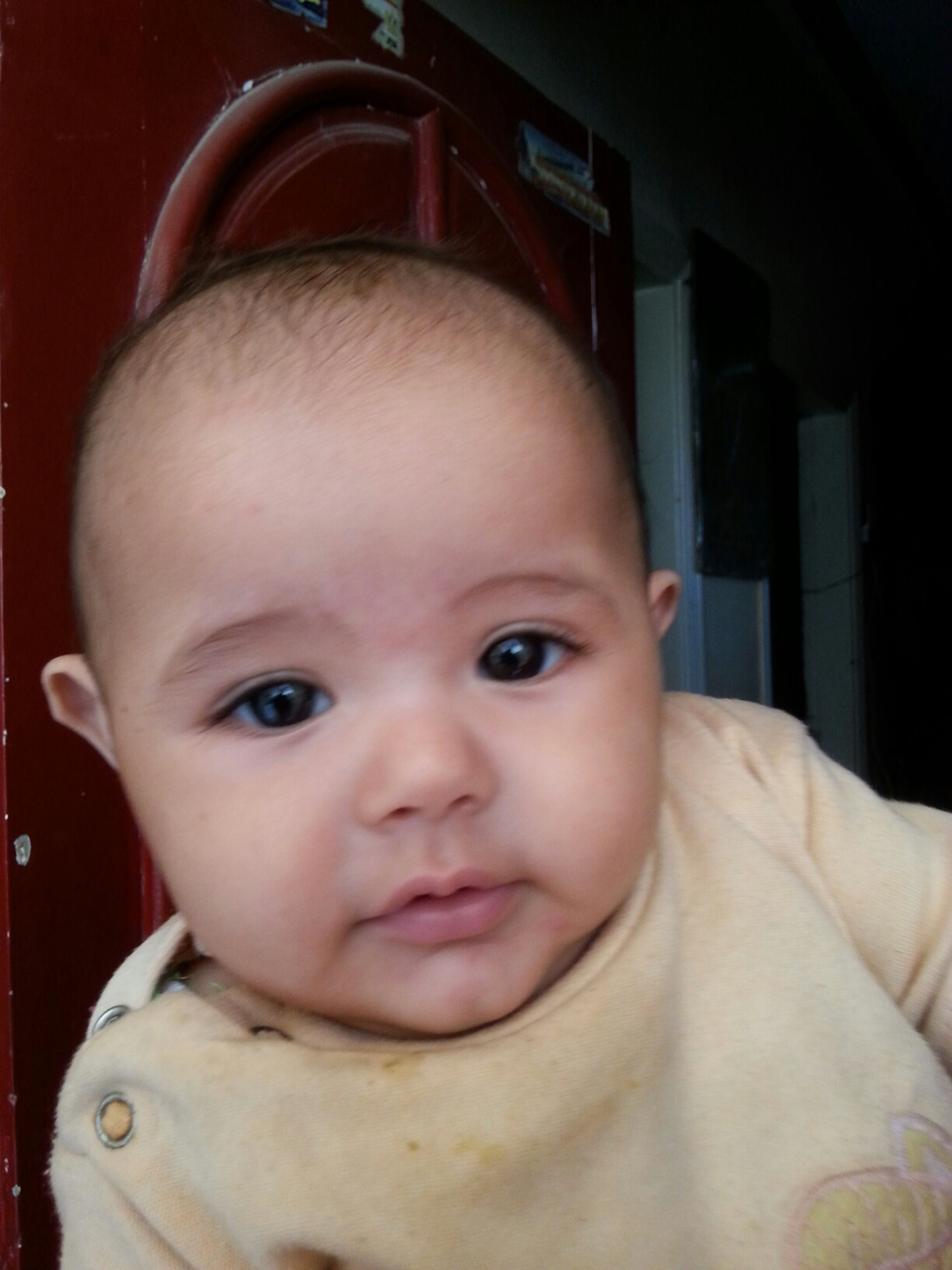 indoors, childhood, headshot, person, innocence, close-up, cute, elementary age, lifestyles, boys, looking at camera, portrait, front view, leisure activity, human face, babyhood, baby, head and shoulders