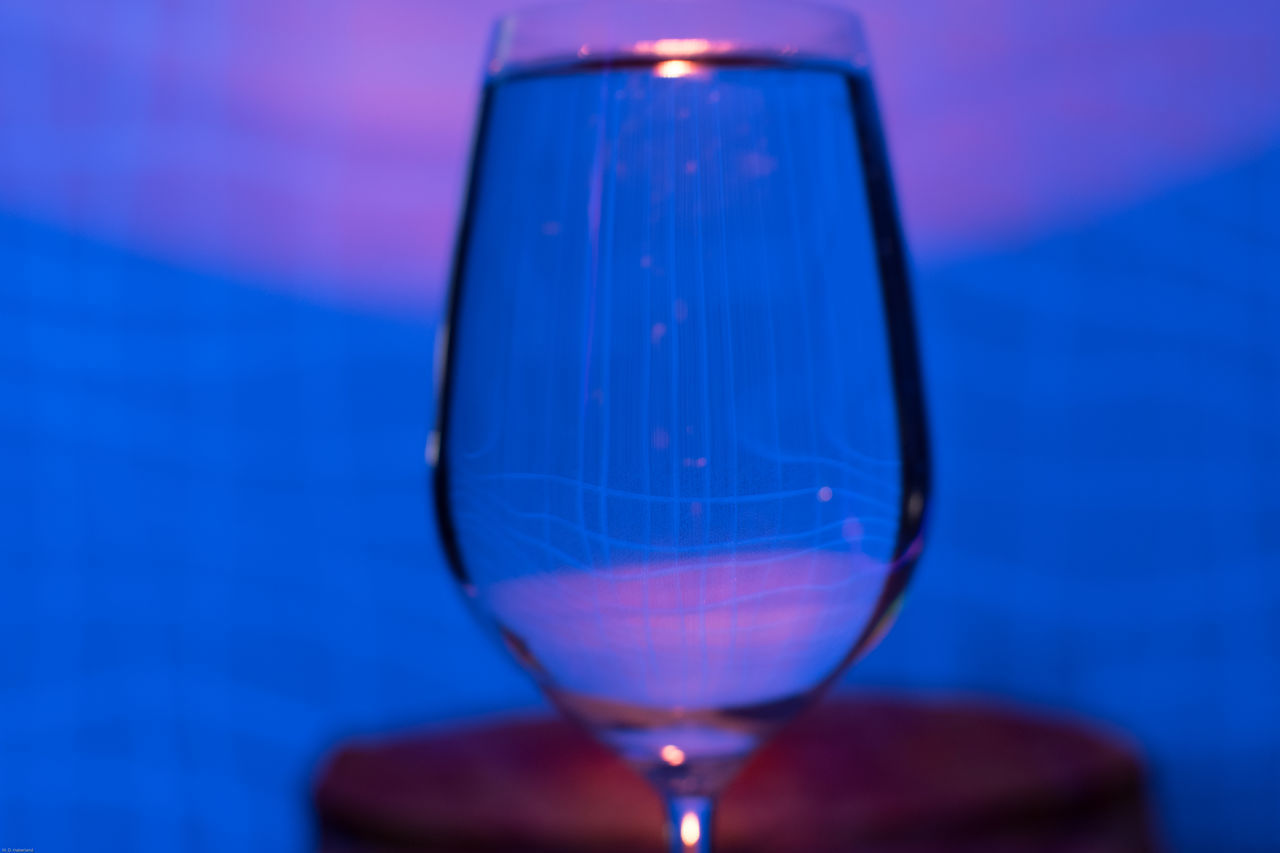 Mirrored Waterglass Candle Light Blacklight No People Indoors  Candle