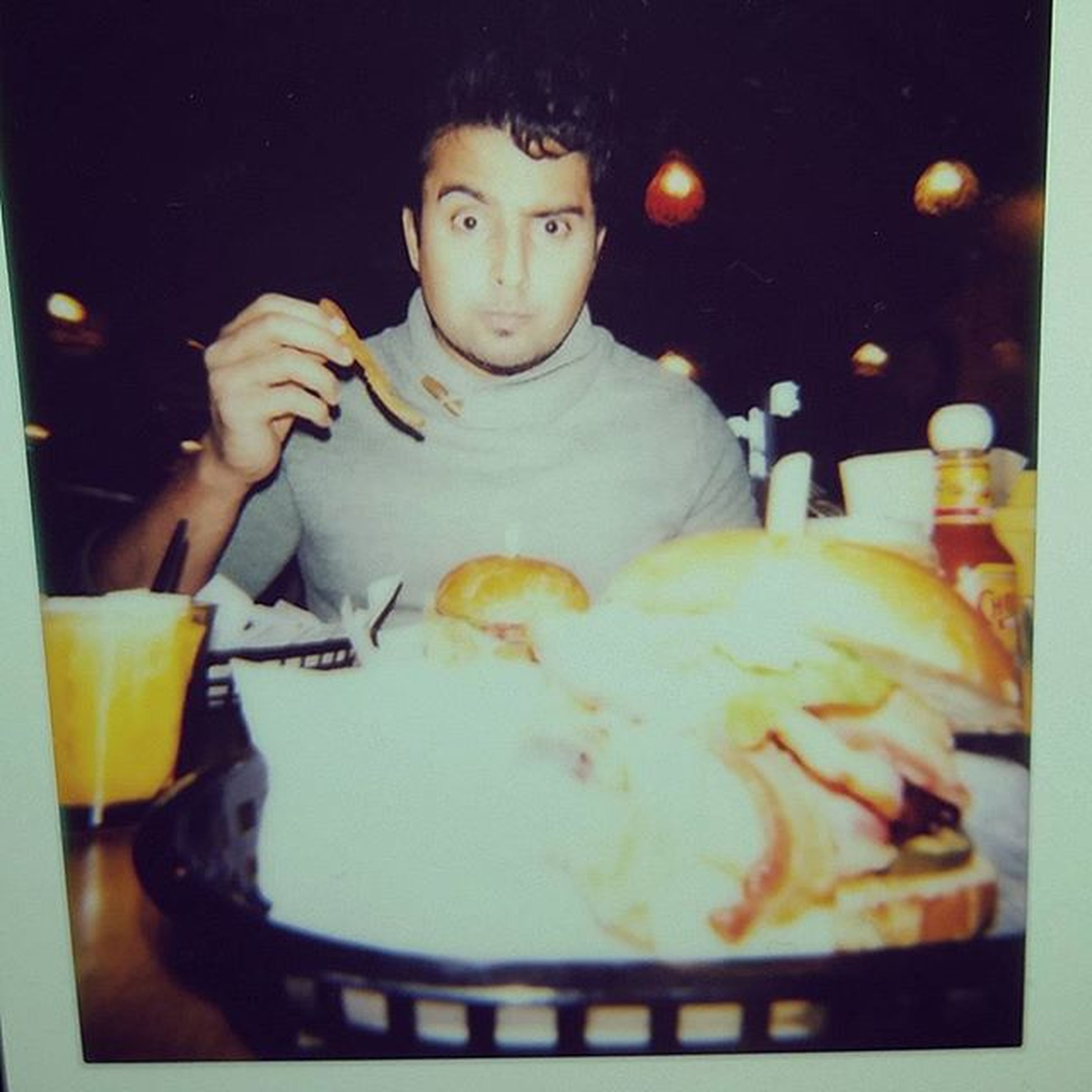 Flaming cow... oh that peanut butter goodness ♡ Sexytime Sluttyburger Flamingcow Food Burger Flaming Cow Loveit Instant Lomoinstant Lomography Polaroids Thoseeyebrowsthough