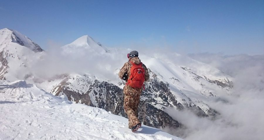 Snow Winter Vacations Ski Holiday Nature One Person Break Free Mountain Outdoors Adventure Day Landscape Cold Temperature Adult Lost In The Landscape