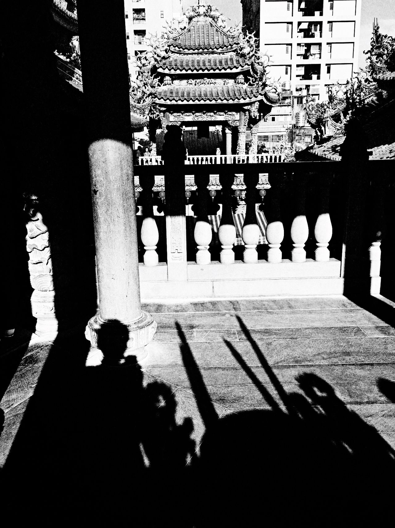 Shadow。 EyeEm Gallery EyeEm Best Shots - Black + White The Tourist Taking Photos Hello World Enjoying Life Sunshine Temple Sanxia