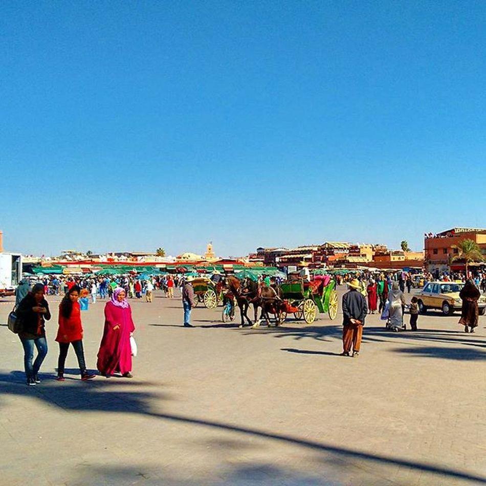 The square Jemaa el Fna. Marrakech Moroccotravels Moroccotraveltips