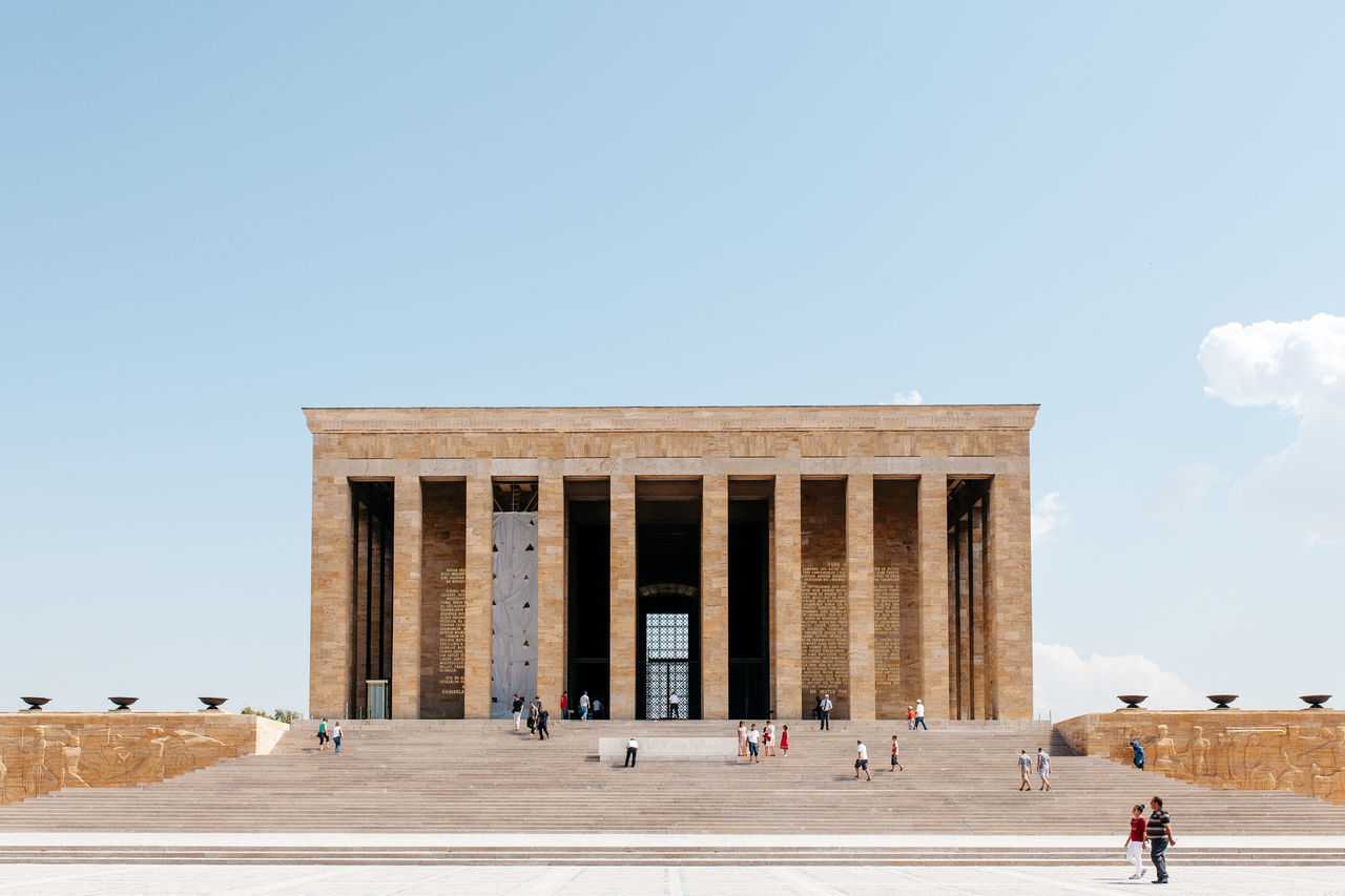 Adult Adults Only Ancient Civilization Anıtkabir Architectural Column Architecture Built Structure City Day Large Group Of People Outdoors People Real People Sky Travel Travel Destinations