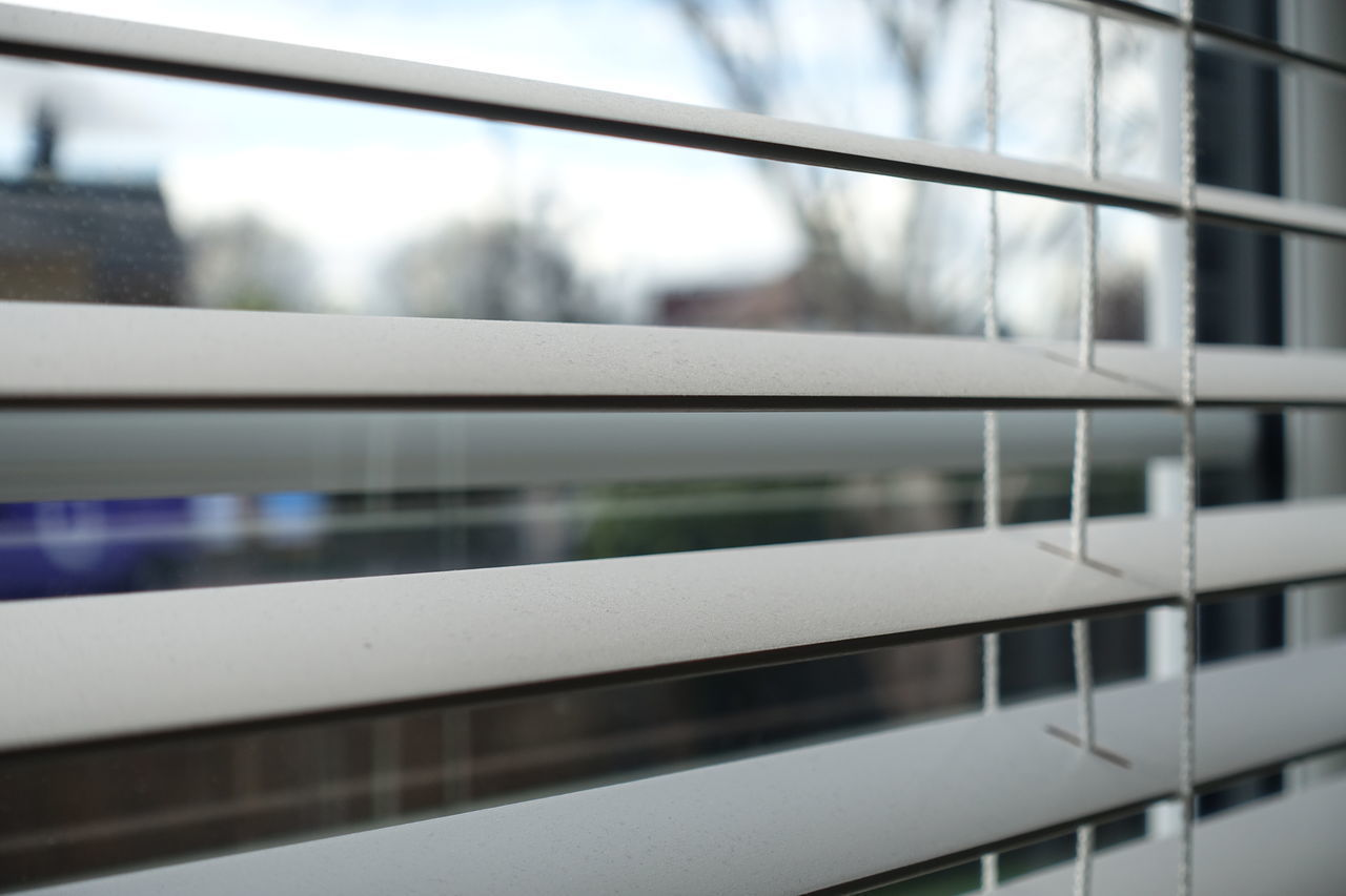 Venetian Blinds on a window. Blinds Closeup Daylight Letinlight Lightinroo Privacy Venetian Blinds Window Windowblinds