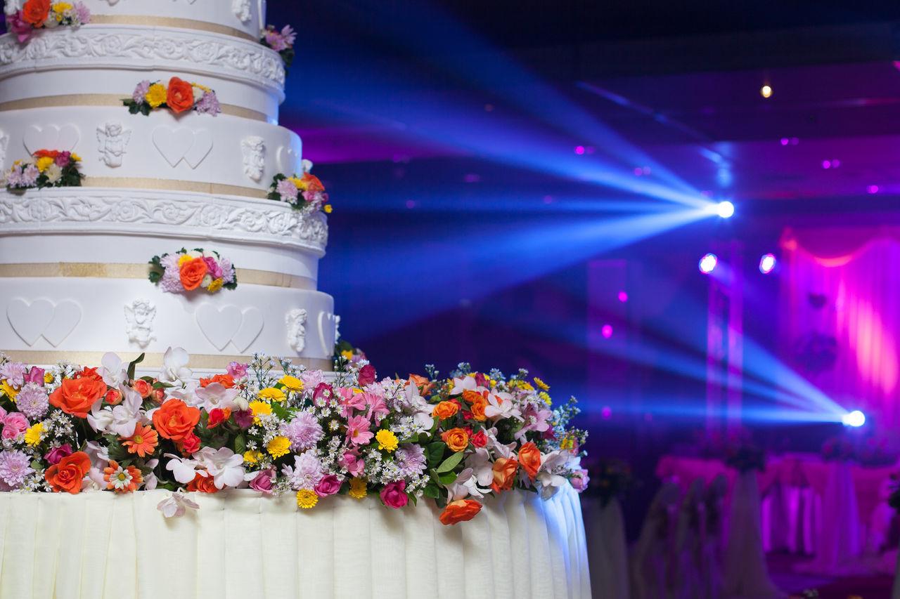 wedding cake Celebration Close-up Event Flower Illuminated Indoors  Multi Colored Night No People Wedding Cake