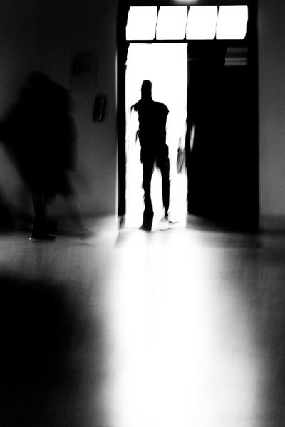 Black And White Black And White Photography Blackandwhite Blurred Motion Blurred Movement In Dachau Darkness And Light Day Door Full Length Germany Indoors  Light And Shadow Men Open Door Real People Two People EyeEmNewHere Resist Konzentrationslager TCPM
