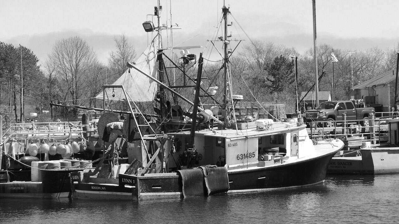 Fishing Time Troller Lobsterboat Dockside Fresh Catch Black And White Photography Open Edit Monochrome Gone Fishing