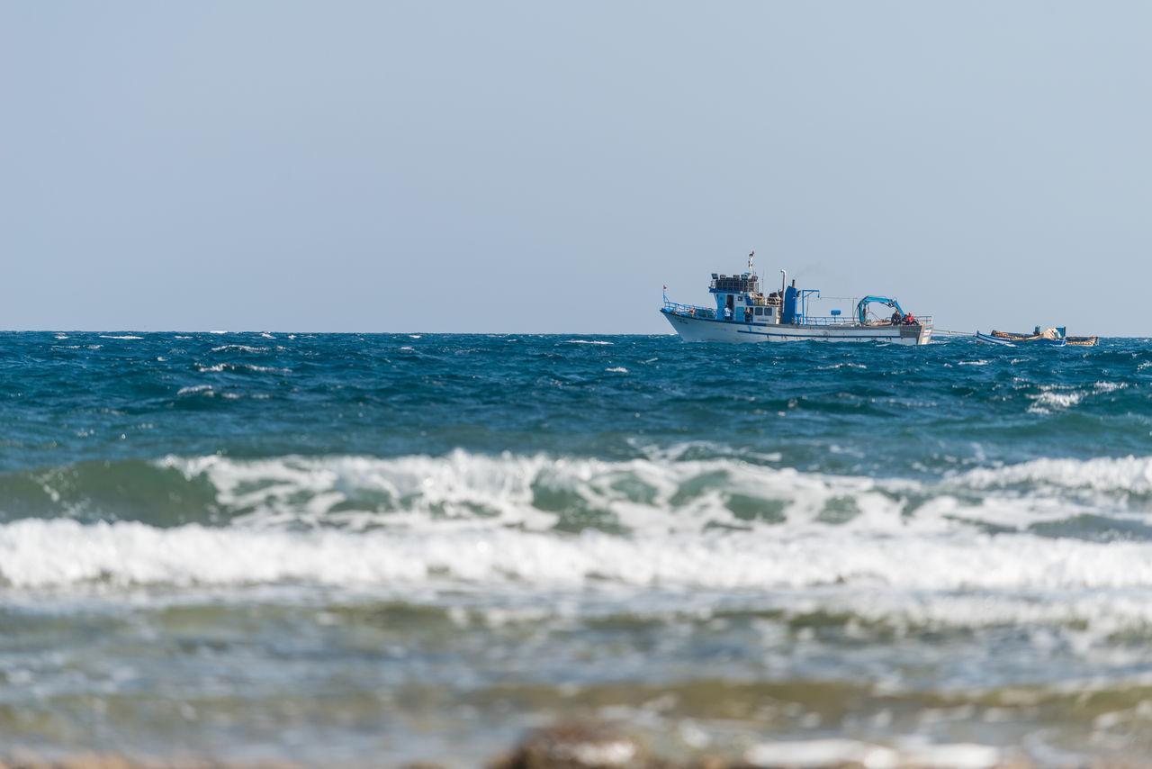 Mahdia Mahdia/Tunisia Sea Ship Ships Waves Waves, Ocean, Nature Work EyeEmNewHere.