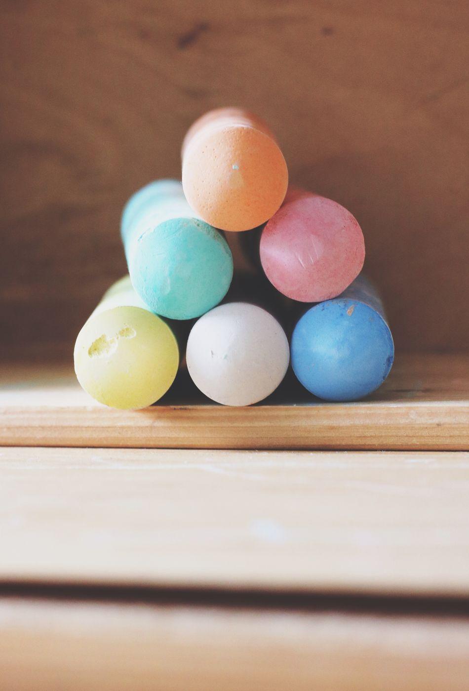 Wood - Material Multi Colored Chalk Tool Tools School