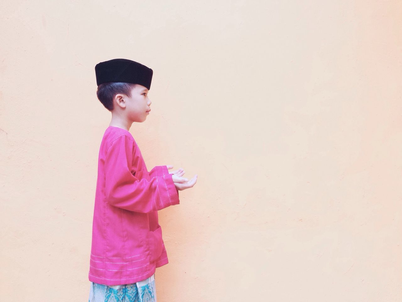 Pastel Power Minimalism Minimalobsession Life Young Man Teen Traditional Costume Eye4photography  IPhoneography Showcase March Millennial Pink