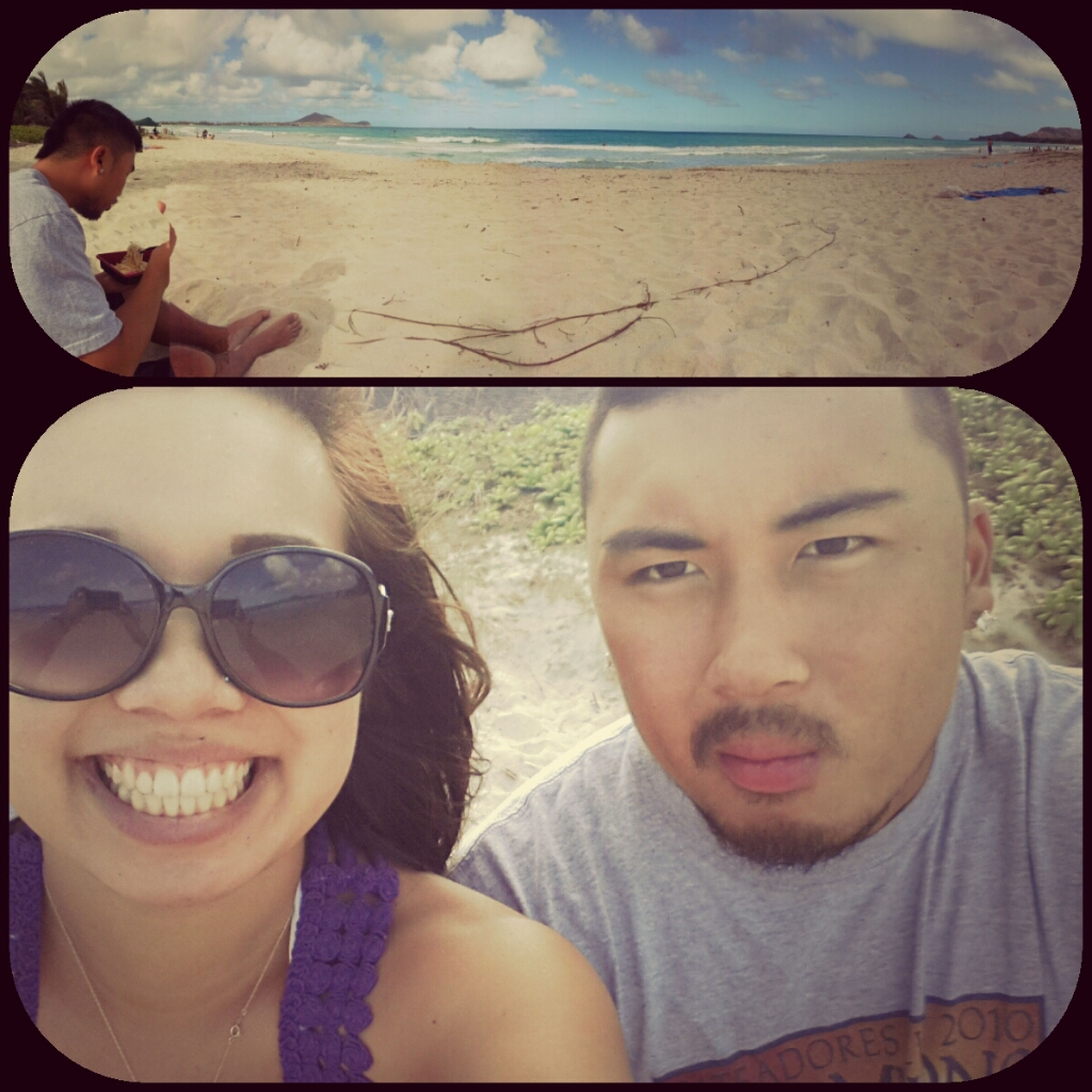 Picnic at the beach with my hunny (: