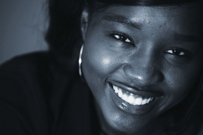 Portrait Of A Woman Black And White Photography Senegalese Smile Girl Portrait Photography Africa Ingenieur