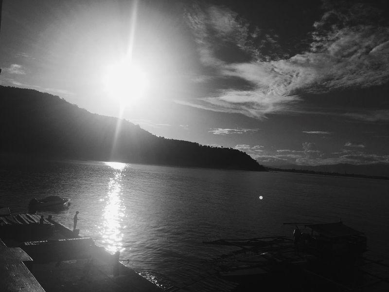 Sunbeam Sunlight Blackandwhite Black & White Blackandwhite Photography Black And White Photography Water Sun Sky Sea Lens Flare Nautical Vessel EyeEmNewHere