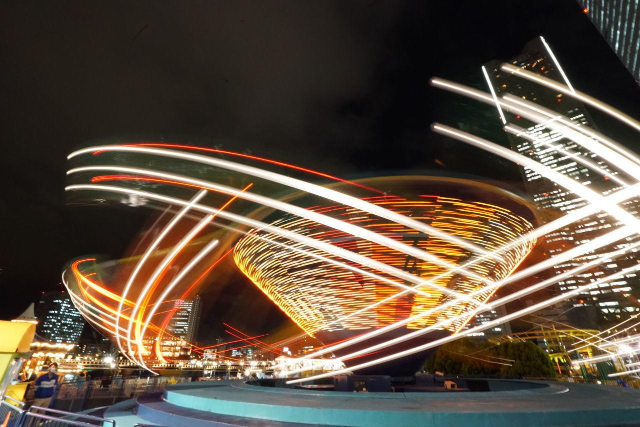 Amusement Park Amusement Park At Night Amusement Park Ride Amusement Park Rides Amusement Parks Night Speed よこはまコスモワールド 横浜 遊園地 遊園地の夜景 First Eyeem Photo
