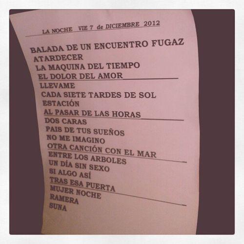 Buena Lista!! Songs MarDeCopas Lanoche