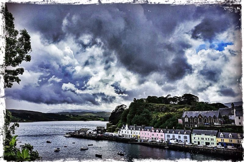 Clouds Sea Sky Travelling Landscape Clouds And Sky Scotland Skye At Isle Of Skye Port Highlands