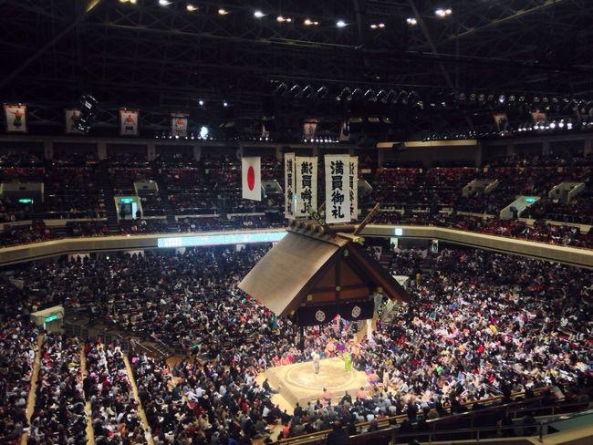 """大相撲 Sumo Introducing Culture Of Japan Which Must Be Left To The Future…… """"未来に残す日本の文化"""" Nosebleed Section"""