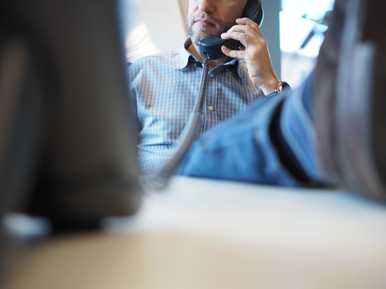 Business Business Person Businessman Call Communication Keyboard Man Man Head Monitor Negotiate Office Office Office View Officeman One Person Phone Shirt Shirt Man Telephone Telephone Cable Telephone Line Work Work Man Working Employed
