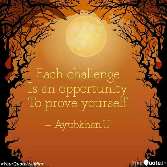 Accept the Challenge by Ayubkhan.U