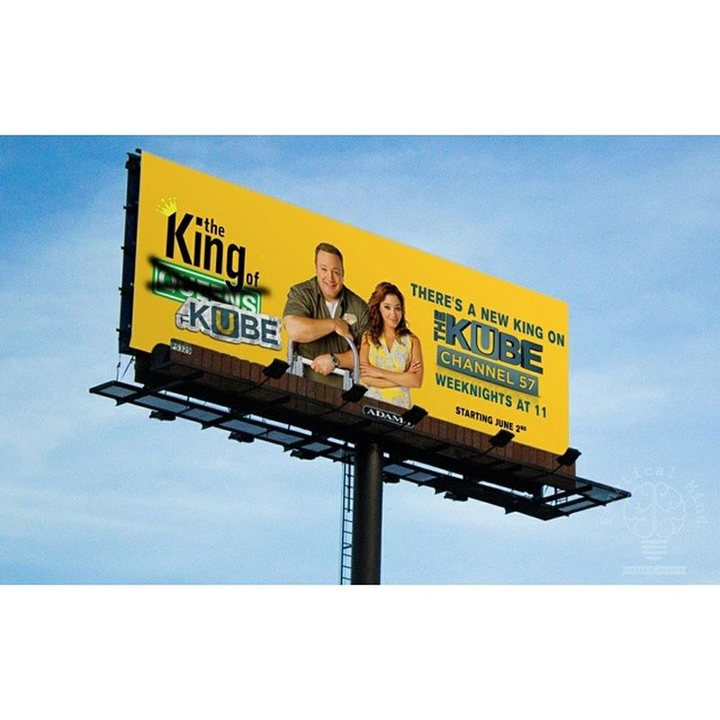 If you passed one of these around town, you're a witness to my work. Houston Graphicdesign Graphicdesigner Printdesign billboard billboarddesign houstondesigner kingofqueens kube57