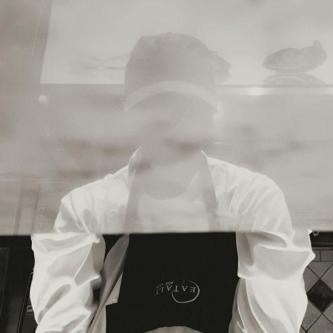 Portrait Man At Work in Blackandwhite
