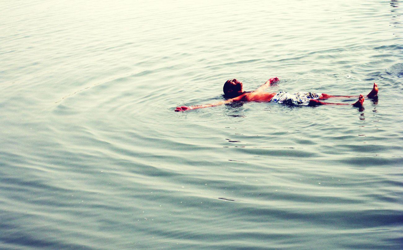 Wave Pattern Floating On Water Deadsea