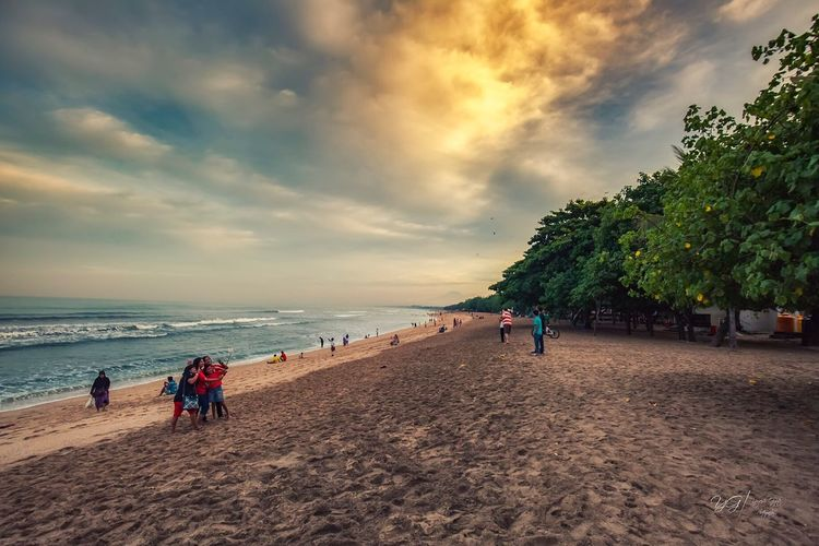 Beach Sea Sand Sky Cloud - Sky Nature Water Beauty In Nature Scenics Vacations Leisure Activity Sunset EyeEm Nature Lover Outdoors EyeEm Best Shots Cloudscape Landscape_Collection Landscape_photography Nature_collection Sky_collection Nature On Your Doorstep Nature_perfection Bali Golden Hour Tranquil Scene