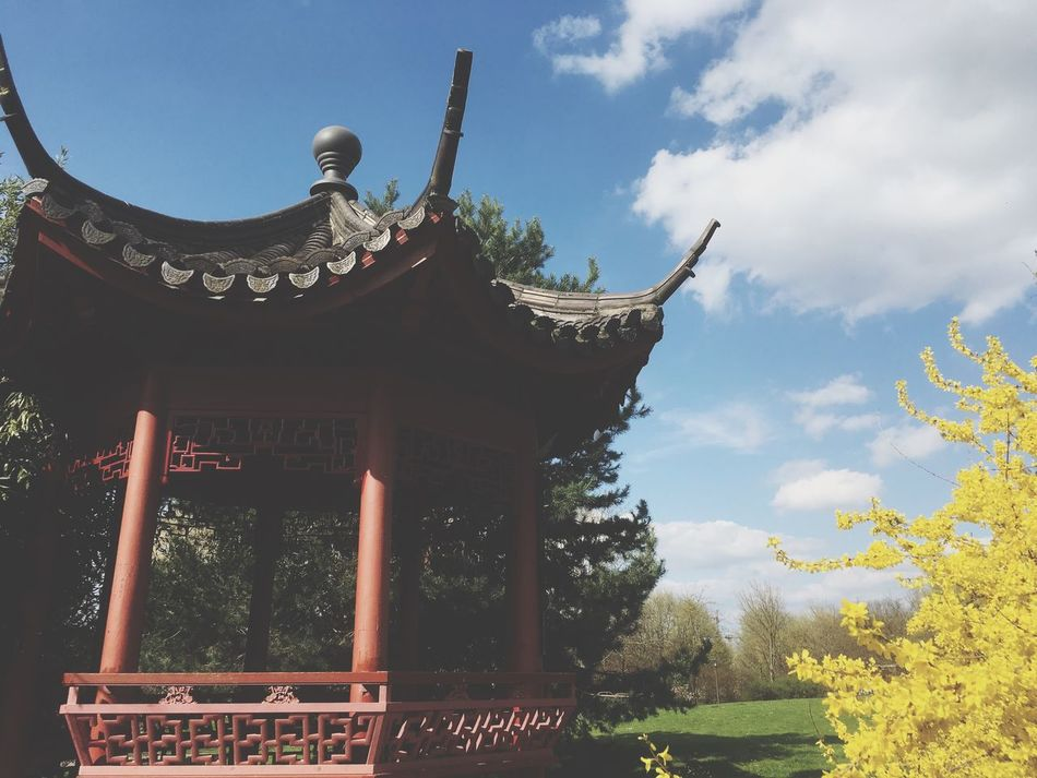 Tree No People Sky Day Low Angle View Built Structure Religion Outdoors Spirituality Place Of Worship Architecture Nature Tranquil Scene Travel Destinations Berlin Berlin Photography Germany Garden Photography China Garden