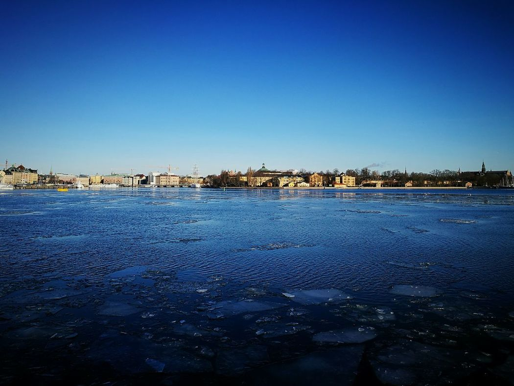 Sweden Stockholm Stockholm View Beauty In Nature Cold Weather Clear Sky Outdoors Traveling Daywalk Icy Water Eyeemphotography EyEmNewHere