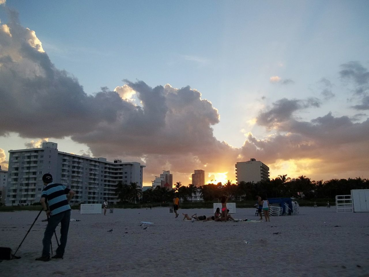 Miami beach Sunset Sky Cloud - Sky Day Adult People Outdoors City Life Illuminated Colors Colorful Colour Colour Explosion Colour Photography Colour Image Colour Of Life