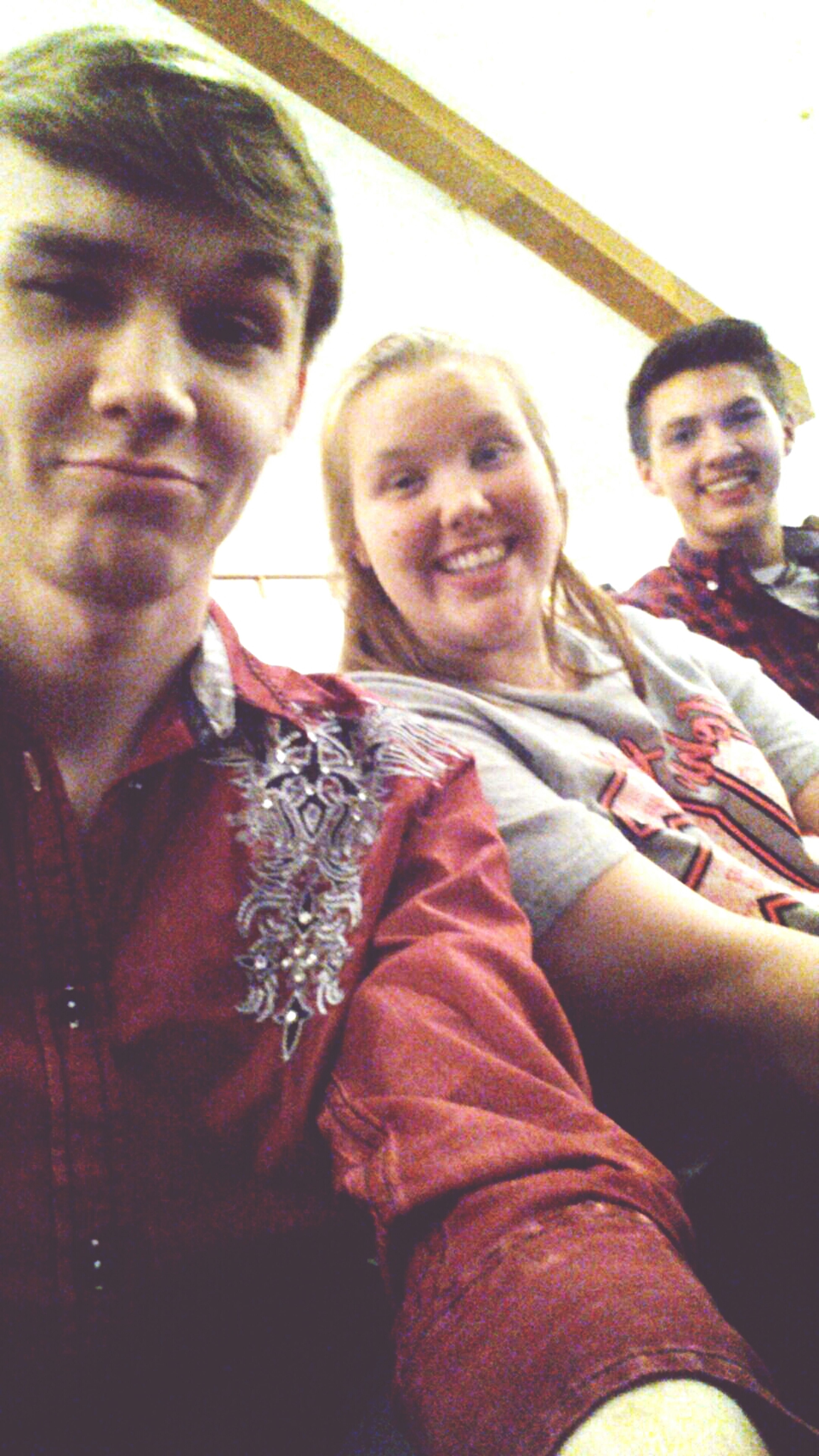 The cousin I love to hate and my best friend on the end. =) Church The Isaacs Concert