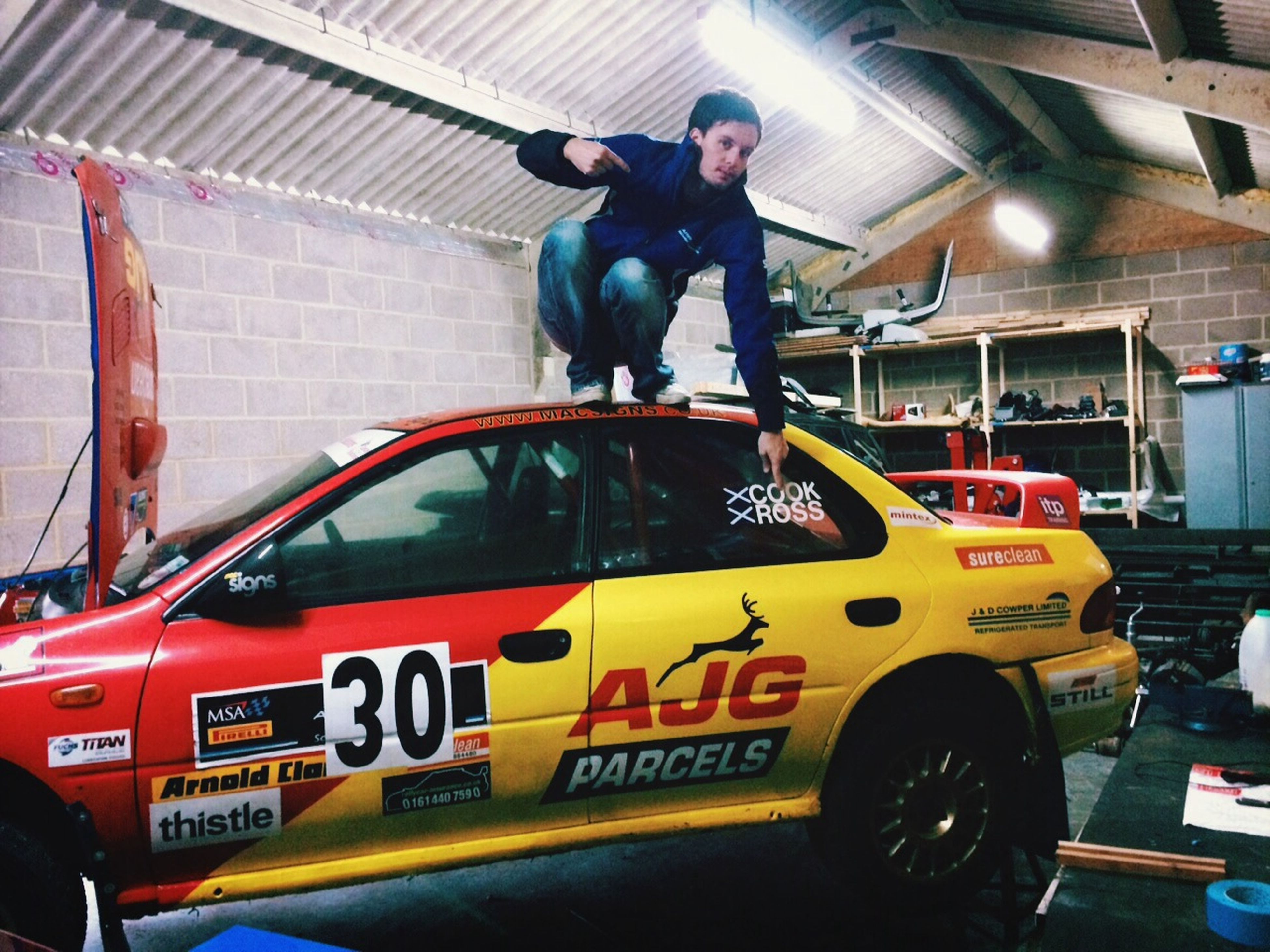 Chilling out on my rally car That's Me Enjoying Life Check This Out
