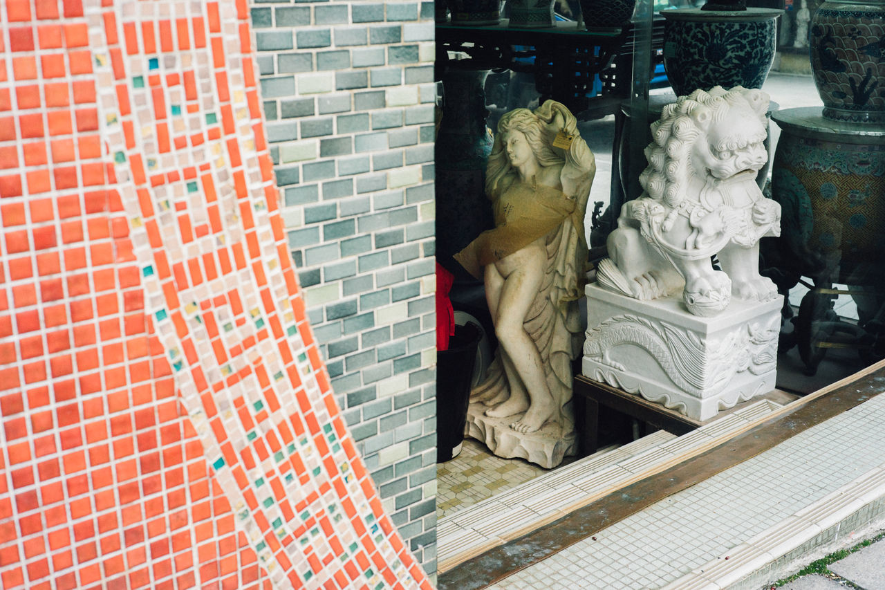 Architecture Chinese Chinese Culture Close-up Day Half No People Outdoors Statue Style