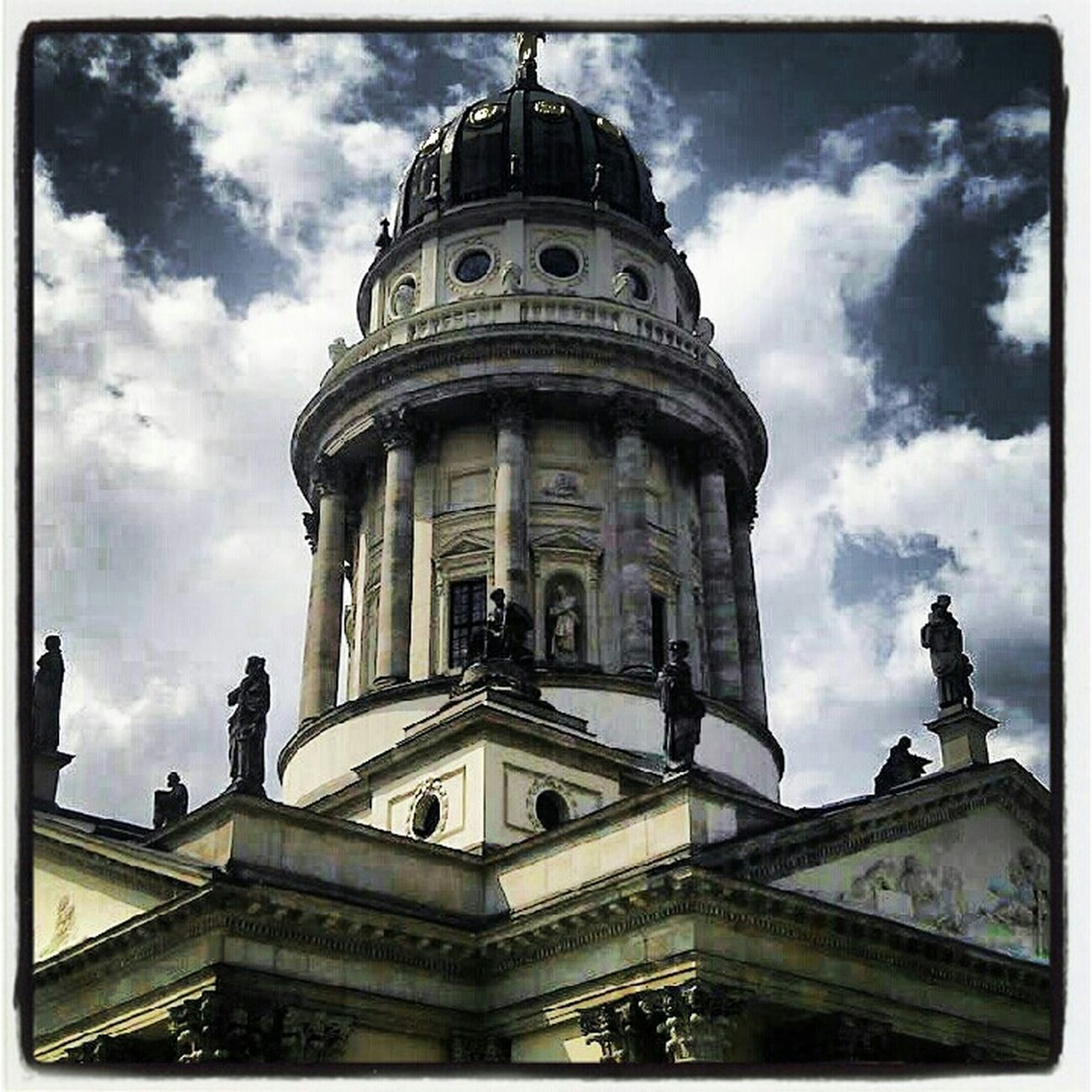 Architecture Church Clouds And Sky At Gendarmenmarkt Kirche