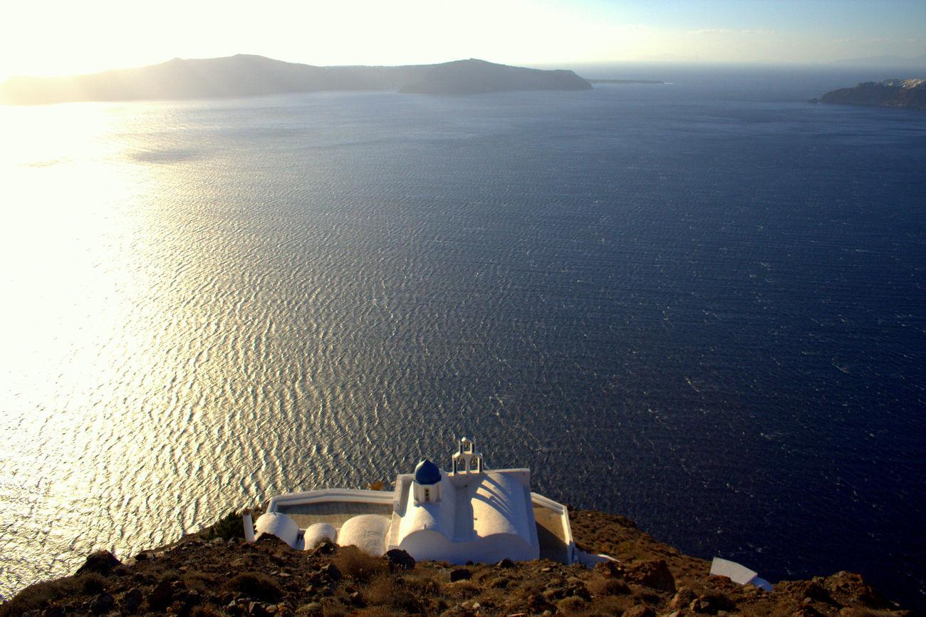 Lost in Imerovigli Travel Photography Santorini Water Colors Landscape