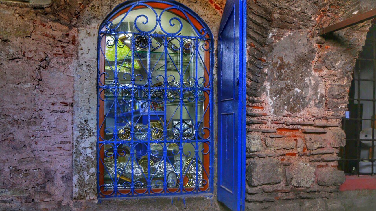 İyi geceler Blue Window Pencere