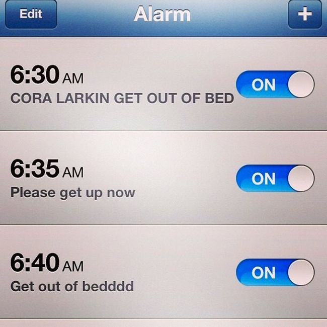 Teens alarm clock AlarmClock Teens Teenagers  Alarm Set. IPhone Photography