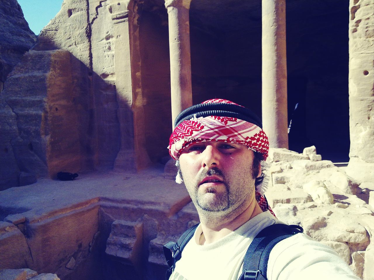 Architecture Petra, Jordan Petra Deserted Lost Place Verlassener Ort Miles Away Stein Stone Human Lips Beard One Man Only Day Uniqueness Alt Architektur EyeEm Traveling